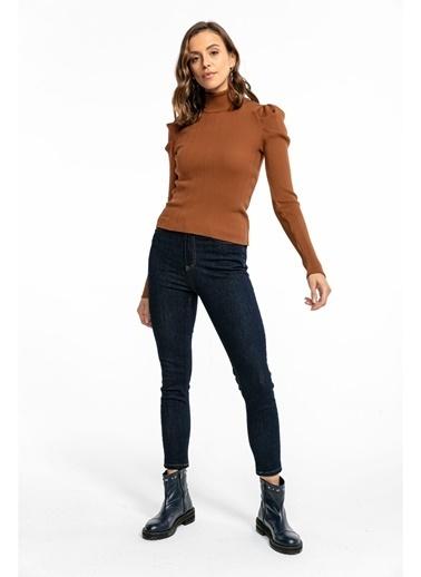 Tiffany&Tomato Yüksek Bel Skinny Jean Pantolon - Siyah Lacivert